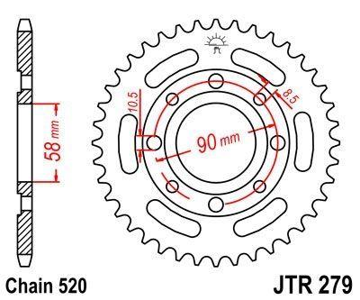 Couronne JT Sprockets Acier pas 520 33 dents - Pour Honda CM 250 1983