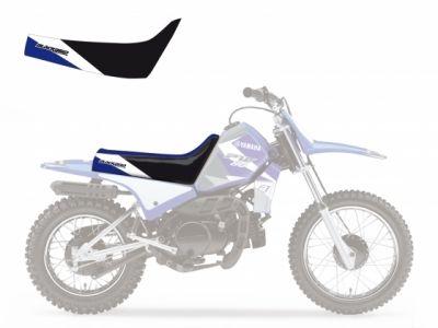 Housse de selle Blackbird Dream Graphic 3 Yamaha 80 PW 96-14 bleu/blanc/blanc