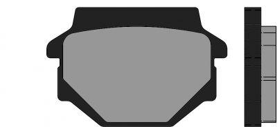 Plaquettes de frein Polini Original Kymco Agility 125/150