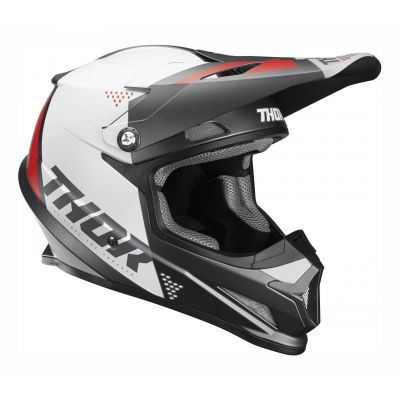 Casque cross Thor Sector Blade charcoal/blanc