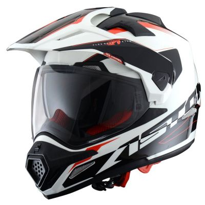 Casque intégral Astone CROSS TOURER GRAPHIC ADVENTURE blanc/noir