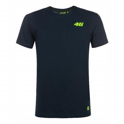 Tee shirt VR46 Core bleu (petit numéro)