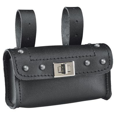 Sacoche de fourche Held Cruiser Lock Pocket noir avec rivets