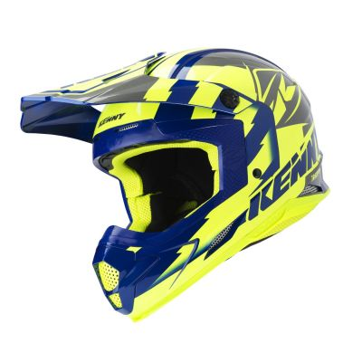 Casque cross Kenny Track néon jaune