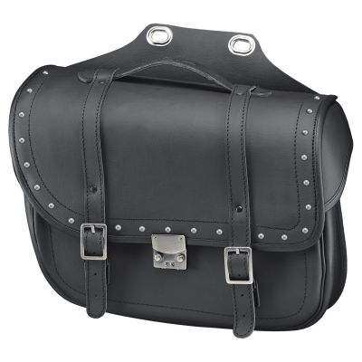 Sacoches latérales Held Cruiser Bullet Bag noir avec rivets