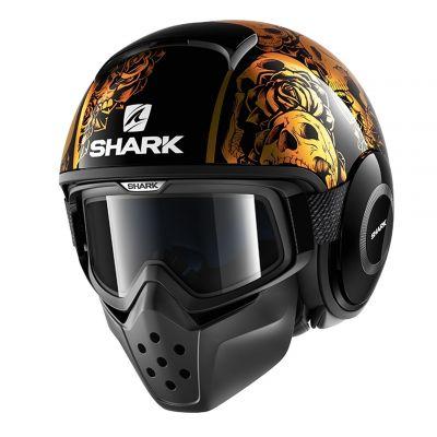 Casque jet Shark DRAK SANCTUS noir/orange