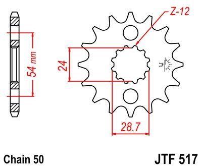 Pignon JT Sprockets Acier pas 530 16 dents - Pour Kawasaki ZR 1100 91-97