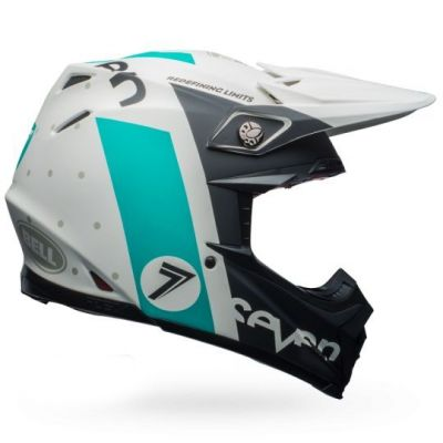 Casque cross Bell Moto 9 Flex Seven Flight Matte Aqua