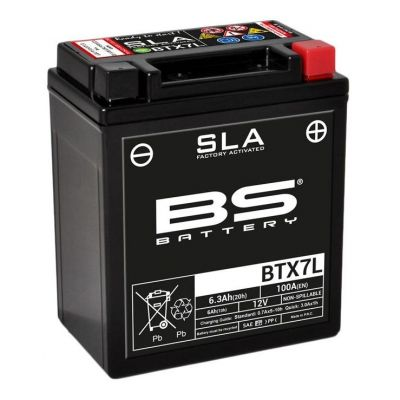 Batterie BS Battery BTX7L 12V 6Ah SLA activée usine