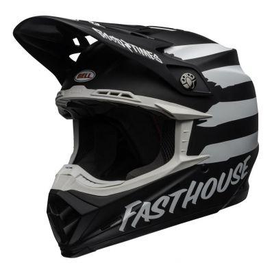 Casque cross Bell Moto-9 Mips Fasthouse Signia mat noir/gris