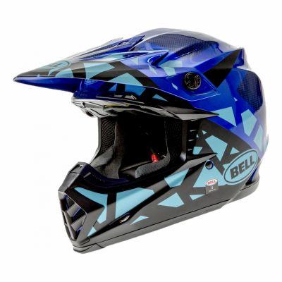 Casque cross Bell Moto-9 Mips Tremor bleu/noir