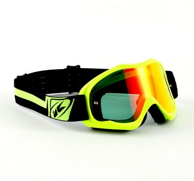 Masque cross Kenny Performance Jaune Fluo