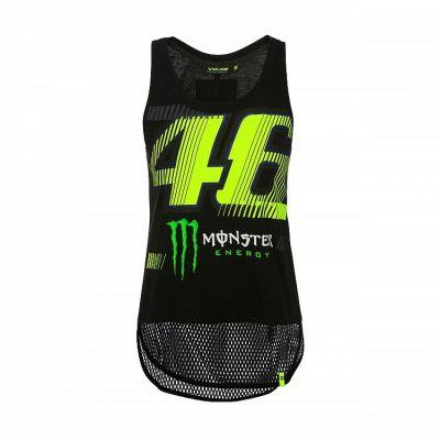 f5f268b11ef Débardeur femme VR46 Valentino Rossi Monza Monster Dual noir jaune 2019 -