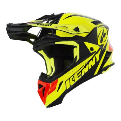 Casque cross Kenny Trophy jaune fluo/orange