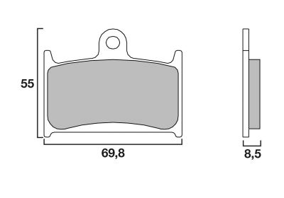 Plaquettes de frein Brembo 07SU1407 organique