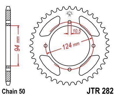 Couronne JT Sprockets Acier pas 530 34 dents - Pour Honda CB 500 F Four 72-77