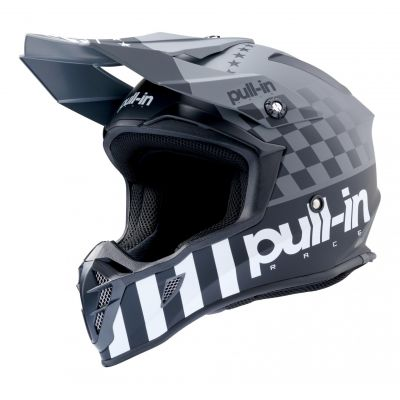 Casque cross Pull-in Master gris/noir