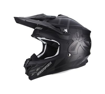 Casque cross Scorpion VX-15 EVO AIR Robot noir mat/argent