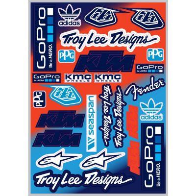 Planche d'autocollants Troy Lee Designs
