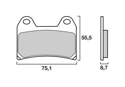 Plaquettes de frein Brembo métal fritté 07BB19SA