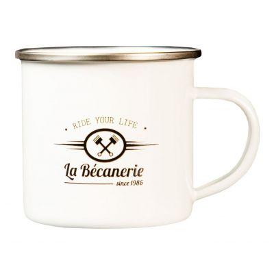 Mug vintage La Bécanerie blanc