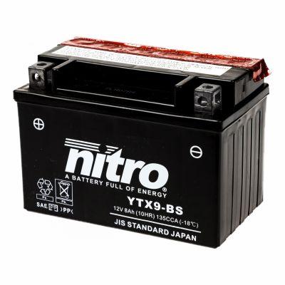 Batterie Nitro YTX9-BS 12V 8 Ah avec acide