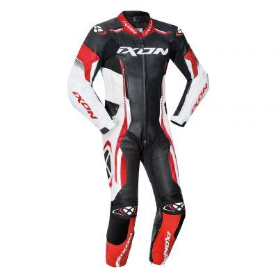 Combinaison cuir enfant Ixon Vortex Junior noir/blanc/rouge