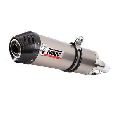 Silencieux MIVV Oval titane / casquette carbone Yamaha XT660 X / R / Z 04-
