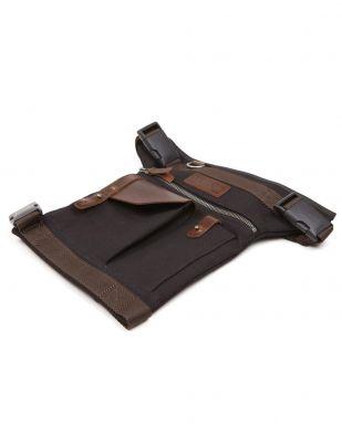 Sacoche de jambe Helstons noir/marron