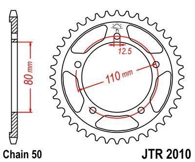 Couronne JT Sprockets Acier pas 530 48 dents - Pour Triumph Daytona 1000 91-95