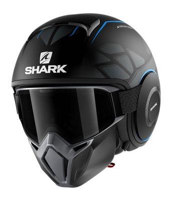 Casque jet Shark Street-Drak Hurok Mat noir/bleu/noir