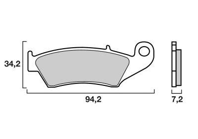 Plaquettes de frein Brembo métal fritté 07KA17SD