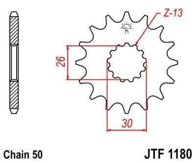 Pignon JT Sprockets Acier pas 530 18 dents - Pour Triumph Daytona 750 91-95