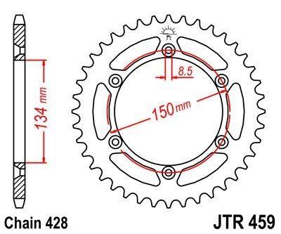 Couronne JT Sprockets Acier pas 428 52 dents - Pour Kawasaki KDX 125 90-99