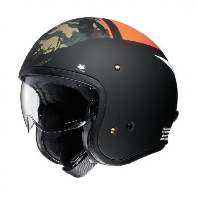 Casque jet Shoei J.O Seafire noir/orange/camo