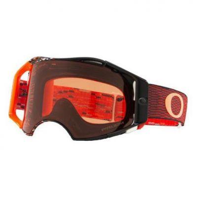 Masque cross Oakley Airbrake MX Equalizer rouge/orange écran Prizm™MX bronze