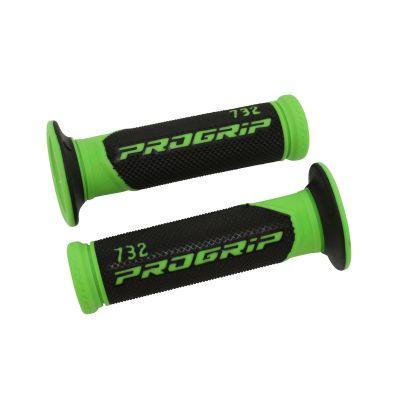 Revêtements de poignée 732 Progrip Closed end noir/vert fluo