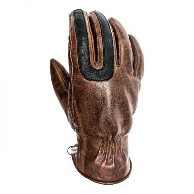 Gants cuir Helstons Mojave camel/noir