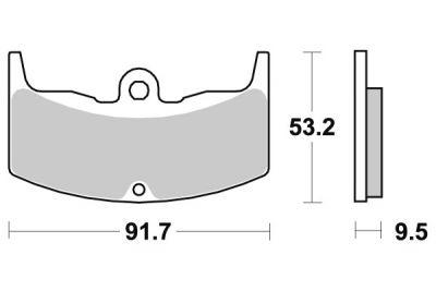 plaquettes de frein sbs c ramique 552hf pi ces freinage sur la b canerie. Black Bedroom Furniture Sets. Home Design Ideas