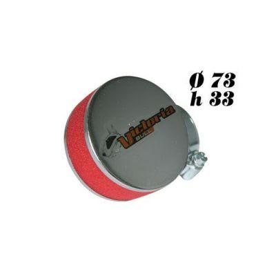 Filtre à air Victoria Bull Rond Chromé mousse Rouge D.28/35