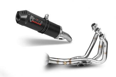 Ligne complète 3x1 MIVV Oval carbone / casquette carbone Yamaha MT-09 13-
