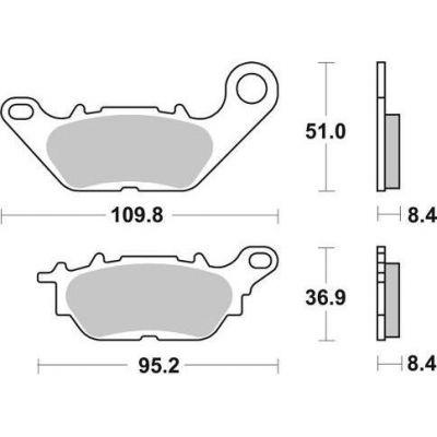plaquettes de frein polini original yamaha n max 125 pi ces freinage sur la b canerie. Black Bedroom Furniture Sets. Home Design Ideas