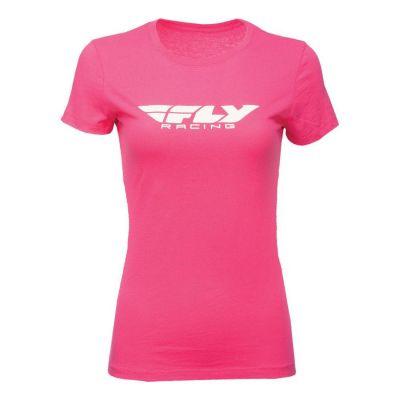 Tee-shirt femme Fly Racing framboise