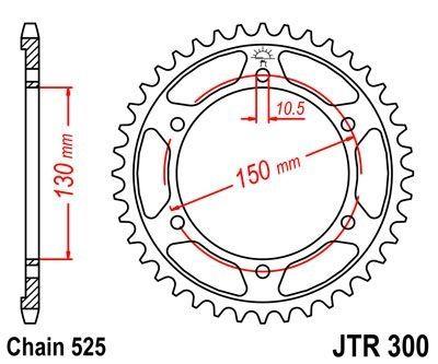 Couronne JT Sprockets Acier pas 525 46 dents - Pour Yamaha FZ8 10-15