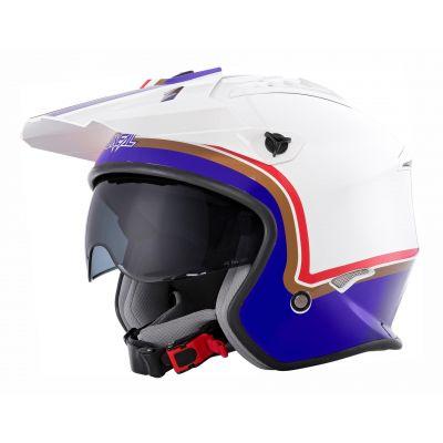 Casque jet O'Neal Volt Rothmans blanc/violet/rouge
