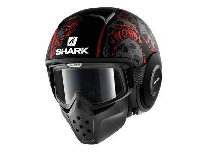 Casque jet Shark DRAK SANCTUS Mat noir/rouge/anthracite