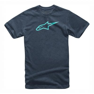 Tee-shirt Alpinestars Ageless II navy heather/turquoise
