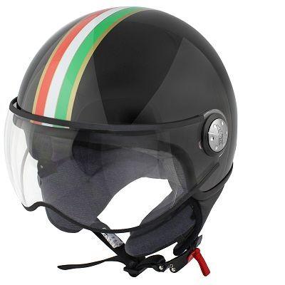 Casque Demi Jet TNT Puck Italia Black