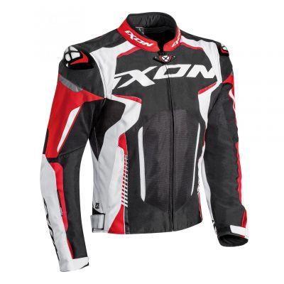 Blouson textile Ixon Gyre noir/blanc/rouge