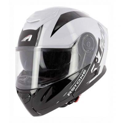 Casque modulable Astone RT900 Stripe blanc/noir